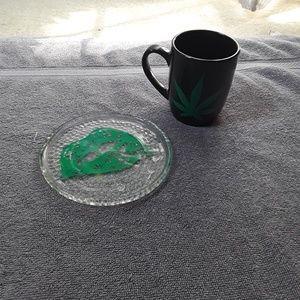 Rolling tray/coaster &  coffee mug